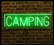 Camping Neon Sign